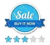 Sale retro label — Stock Vector