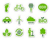 Green / eco icons — Stock Vector