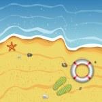 Tropical Summer Beach Illustration — Stock Vector #10555807
