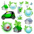 Stock Vector: Eco icons and concepts