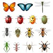 Updated version of vector insects - bugs and invertebrates  — Stock Vector