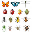 Updated version of vector insects - bugs and invertebrates - Stock Vector