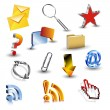 Collection of vector 3d icons — Stock Vector