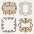 Royalty-Free Stock Vector Image: Vintage Ornate Vector Frame Collection