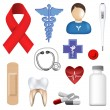 Collection of medical icons — Stok Vektör