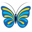 Blue vector butterfly — Stock Vector