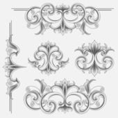 Set of Victorian Style Decorations — Stock Vector
