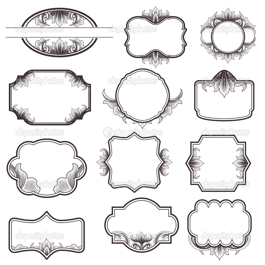 Vintage Ornate Vector Frame Collection  — Stock Vector #10557501