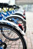 Bicycles in sequence — Stock Photo