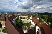View from Castle of Lubiana — Stock Photo
