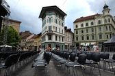 A theater in ljubljana — Stock Photo