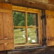 Reflections in the window of the refuge — Stock Photo #10689723