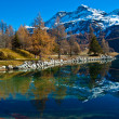 Swiss Lake Silvaplana - Stock Photo