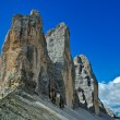 Tre cime of Lavaredo, Dolomites - Italy - Stock Photo