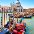 Gondolas on Canal Grande in Venice, Italy — Stock Photo