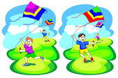 Kite game — Vettoriale Stock