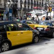 Stock Photo: Taxis Lined Up