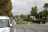 Tram tracks — Stockfoto