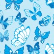 Seamless pattern with butterfly — Stock Vector