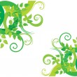 Royalty-Free Stock Vector Image: Green decorative background