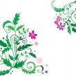 Royalty-Free Stock Vector Image: Decorative flower background
