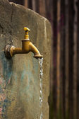 Old rusty water tap — Stock Photo
