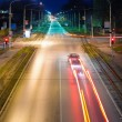 Night city traffic and lights — Stock Photo