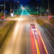 Night city traffic and lights - Stock Photo