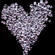 Heart shaped of tiny sugar crystals — Stock Photo