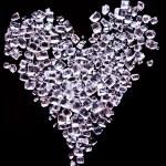 Heart shaped of tiny sugar crystals — Stock Photo