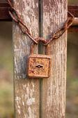Vintage rusty padlock — Stock Photo