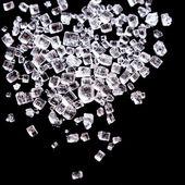 Socker eller salt kristaller makro skott — Stockfoto