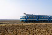 Blue train — Stock Photo