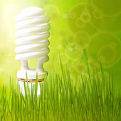 Save energy concept background abstract green — Stock Photo