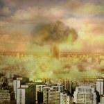 Apocalypse nuclear bomb — Stock Photo