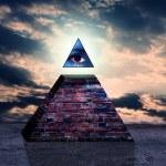 Illuminati pyramid — Stock Photo #10684426