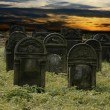Jewish cemetery - Stock Photo