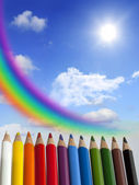 Crayon abstract colorful background — Stock Photo