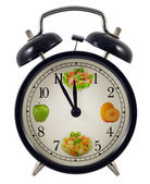 Diet clock concept — Photo