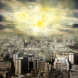 Apocalypse sun explosion magnetic storm — Stock Photo #10690763