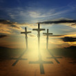 Easter three crosses — Stock Photo #10690820
