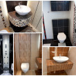 Toilets wc collage - 图库照片