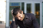 Bank crisis and bankrupt — Stock Photo