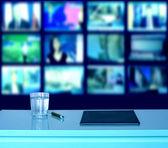 Studio de radiodiffusion de télévision nouvelles — Photo