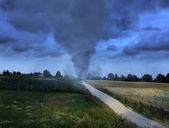 Tornado on the road — 图库照片