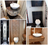 Toilets wc collage — Stockfoto