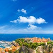 Panoramic view of Monaco with palace and harbor — Stock Photo #10547785