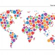 Royalty-Free Stock Vector Image: World map with flowers