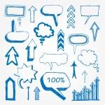 Arrows and speech bubbles set — Stock Vector #10709001