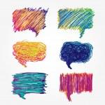 renkli konuşma balonları küme — Stok Vektör